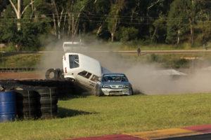 Gerhard Henning and George Bezuidenhout crash